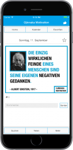 Die Ojinnaka Motivation App auf einem iPhone 7