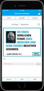 Die Ojinnaka Motivation App auf einem iPhone 7